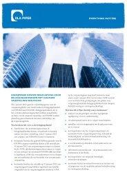 IngrIjpende nIeuwe regelgevIng voor beleggIngsfondsen met ...