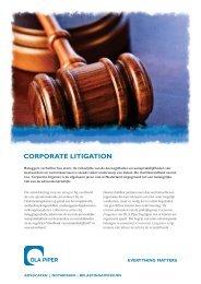 Corporate Litigation - DLA Piper