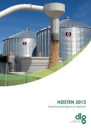 Afregningsbetingelser høst 2013 - dlg