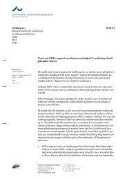 Notat om DHI's rapport om ålegræsværktøjet til vurdering af ...