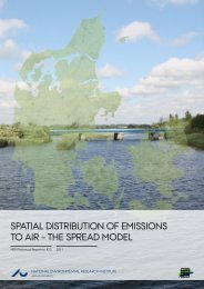 Spatial distribution of emissions to air - the SPREAD model