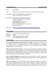 Curriculum Vitae November 2010 Personal data Short résumé