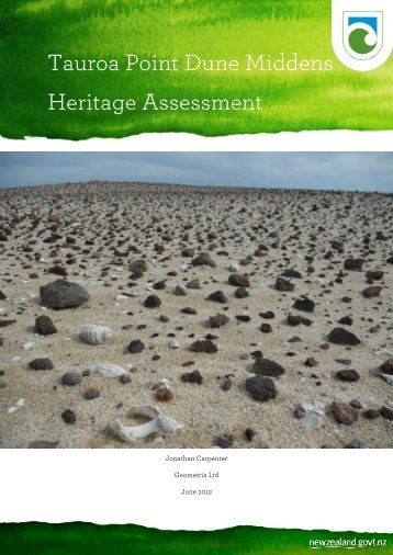 Tauroa Point Dune Middens heritage assessement - Department of ...