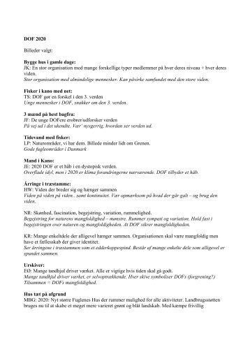 Hovedbestyrelsen - Dansk Ornitologisk Forening