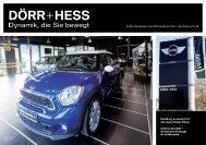 Großkundenmagazin MINI - Autohaus Dörr + Hess GmbH & Co. KG