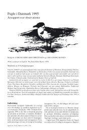 Fugle i Danmark 1995 - Dansk Ornitologisk Forening