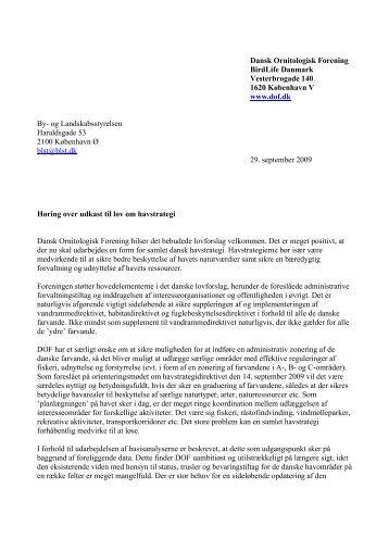 og Landskabsstyrelsen Haraldsgad - Dansk Ornitologisk Forening