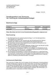 Verwaltungsreform Land / Kommunen hier: Anhörung der ... - Stuttgart