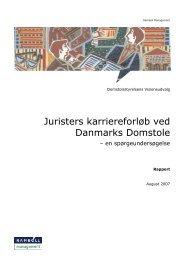 Juristers karriereforløb ved Danmarks Domstole - Domstolene