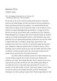 Professor Ditlev Tamms tale ved jubilæumsmiddagen - Domstol.dk