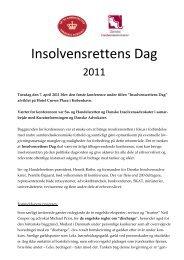Insolvensrettens dag 2011 - Domstol.dk