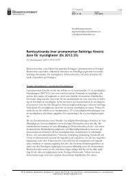Yttrande Remissyttrande över promemorian Behöriga företrädare för ...