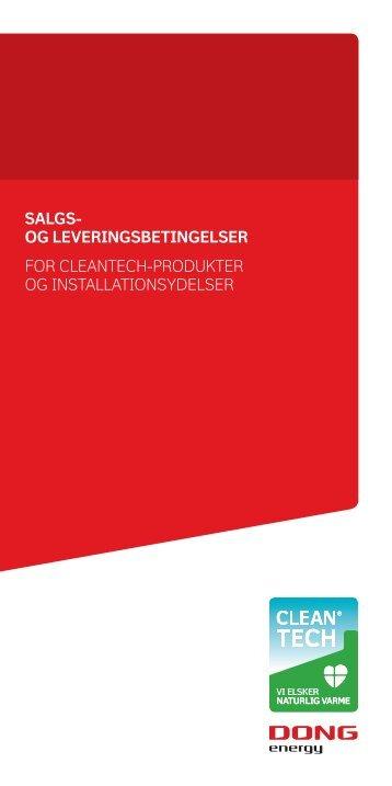 cleantech salg og lev betingelser.indd - DONG Energy