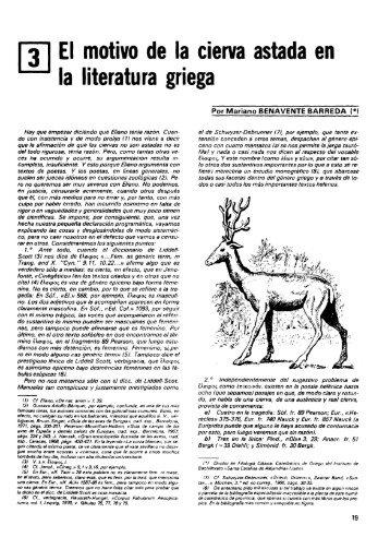 EI motivo de la cierva astada en la literatura griega - Ministerio de ...