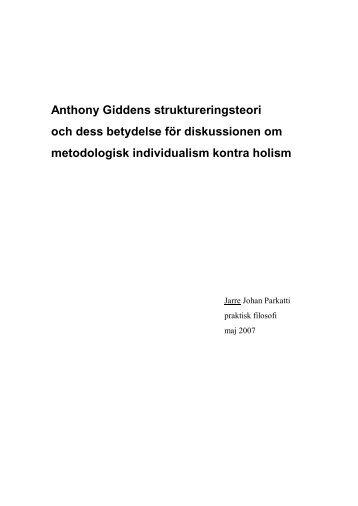 anthony giddens teori