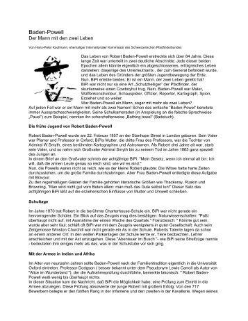 Baden-Powell - DPSG Stamm Homburg Zentral