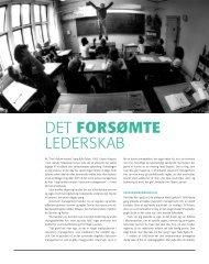 DET forsøMte lEDERSKAB - Institut for Uddannelse og Pædagogik ...