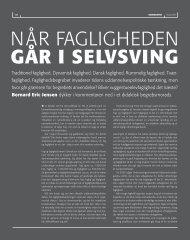 NÅR FAGLIGHEDEN GÅR I SELVSVING - Institut for Uddannelse og ...