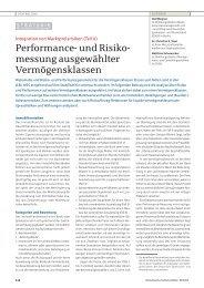 Performance- und Risiko- messung ausgewählter ... - Dr. Sievi