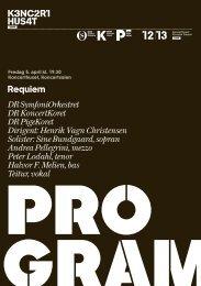 Her kan du se programmet til John Frandsens Requiem - DR