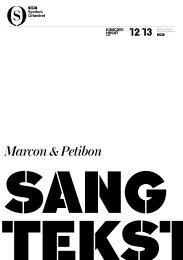 Hent sangtekster til Marcon & Petibon - DR