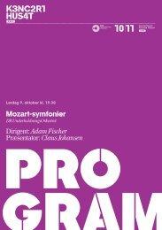 Mozart-symfonier Dirigent: Adam Fischer Præsentator: Claus ... - DR