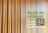 Dansk musik i radioen 2005 - DR