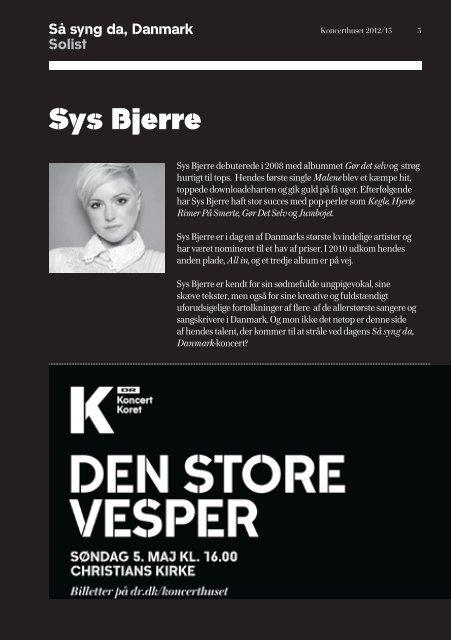 Her kan du hente programhæftet til Så syng da, Danmark ... - DR
