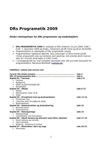 DRs programetiske retningslinjer