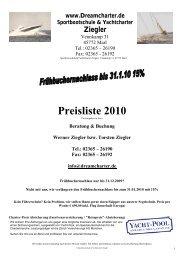 Preisliste 2010 - Dreamcharter