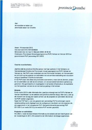 Verkeer en Vervoer 2013 en gecombineerd ... - Provincie Drenthe