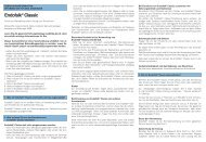 Gebrauchsinformation Endofalk® Classic - Dr. Falk Pharma GmbH