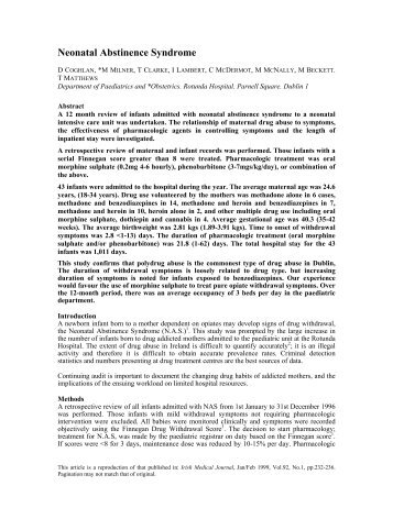 PDF (Neonatal abstinence syndrome) - The National Documentation ...