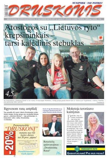 """Atostogos su """"Lietuvos ryto"""" krepšininkais – tarsi ... - Druskonis"""