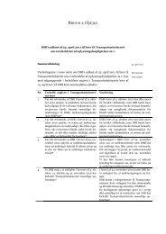 DSB's udkast af 25. april 2011 til brev til Transportministeriet om ...