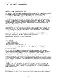 DSB – Den Grønne indkøbspolitik - 1 -