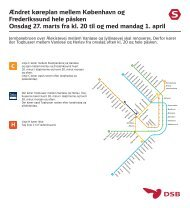 Ændret køreplan mellem København og Frederikssund hele ... - DSB