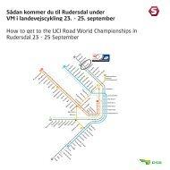 Sådan kommer du til Rudersdal under VM i landevejscykling 23. - DSB