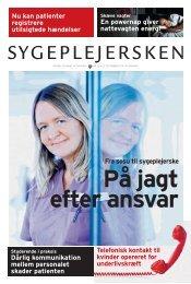 Sygeplejersken 2011 nr. 16 - Dansk Sygeplejeråd