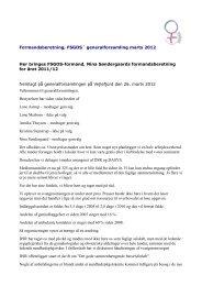 Formandens beretning 2012