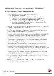 Anbefalinger til forebyggelse af trusler og vold på arbejdspladsen