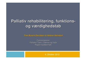 Palliativ rehabilitering, funktions- og værdighedstab