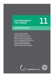 Overenskomst for ledere 11 - Danske Regioner - Dansk Sygeplejeråd