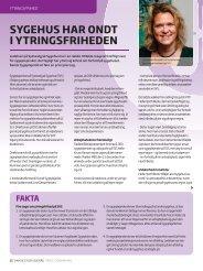 Kredsloebet Ytringsfrihed Marts 2013 - Dansk Sygeplejeråd