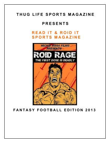 THUG LIFE SPORTS MAGAZINE PRESENTS READ IT