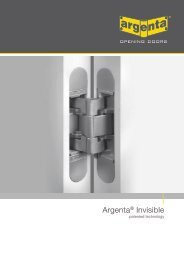 Argenta® Invisible - Du Pont bvba