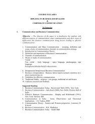 1 COURSE SYLLABUS DIPLOMA IN BUSINESS JOURNALISM ...