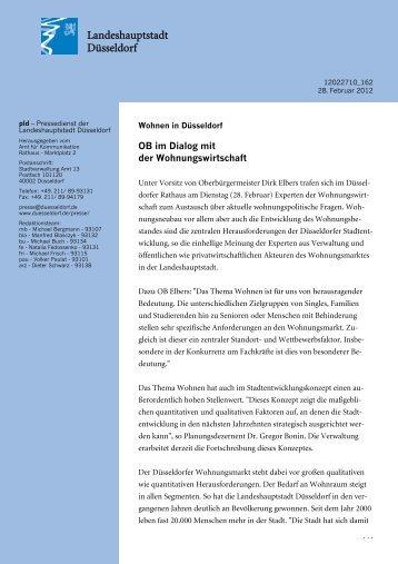 OB im Dialog mit der Wohnungswirtschaft - Duesseldorf Realestate