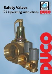 Safety Valves - Duco