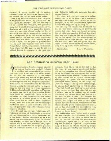 Hoogenraad, HR & D. de Visser Smits (1901) - Duinen en mensen